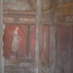 In the villa of the mysteries in Pompeii