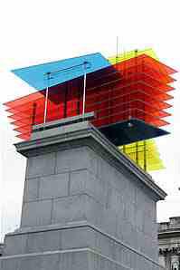 plinth created for Trafalgar square by Thomas Shutte