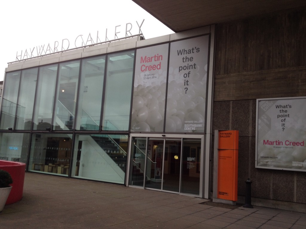 Creed took over the whole Hayward Gallery, London (including the toilets) for an impressive retrospective of his work